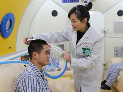 突发性耳聋高压氧治疗学会戴面罩